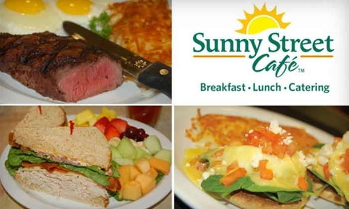 Sunny Street Café - Multiple Locations: $5 for $10 Worth of Fresh Breakfast and Lunch Fare at Sunny Street Café