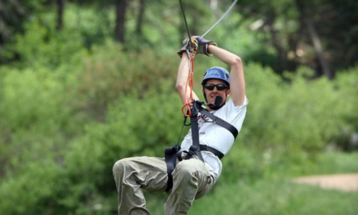 Denver Adventures LLC - Pleasant Park Corridor: $65 for a Six-Zipline Adventure from Denver Zipline Tours in Conifer ($129 Value)