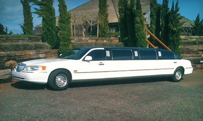 Sea Breeze Limousine - Salem OR: Private or Group Limousine Winery Tour with Appetizers and Wine Tastings from Sea Breeze Limousine (Up to 58% Off)