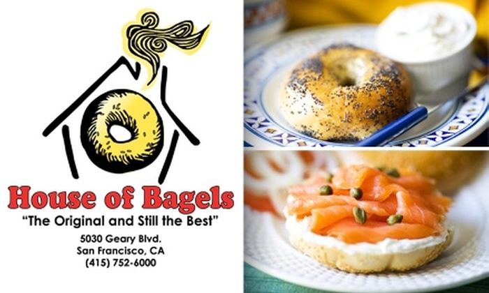 House of Bagels - Central Richmond: $5 for One Dozen Bagels and 8 Ounces of Plain or Flavored Cream Cheese at House of Bagels