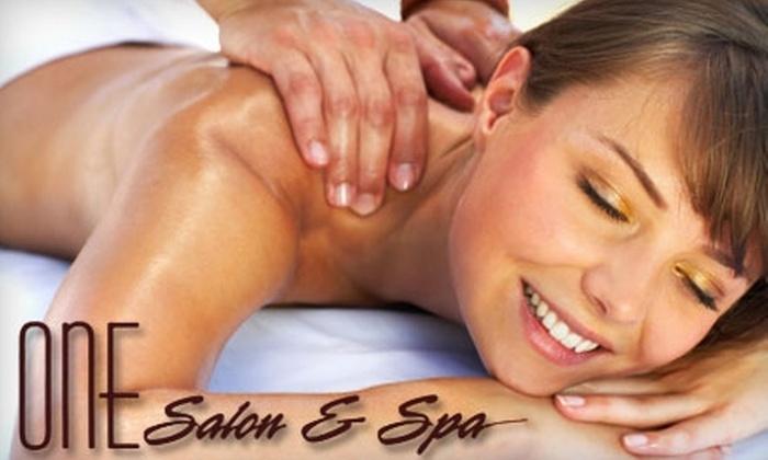 One Salon & Spa - Oak Brook: $42 for a 50-Minute Swedish or Deep-Tissue Massage at One Salon & Spa in Oak Brook ($85 Value)
