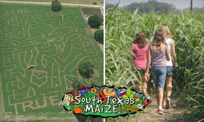 South Texas Maize - 4: One General-Admission Ticket to Outdoor Maze at South Texas Maize in Hondo. Choose Between Two Options.