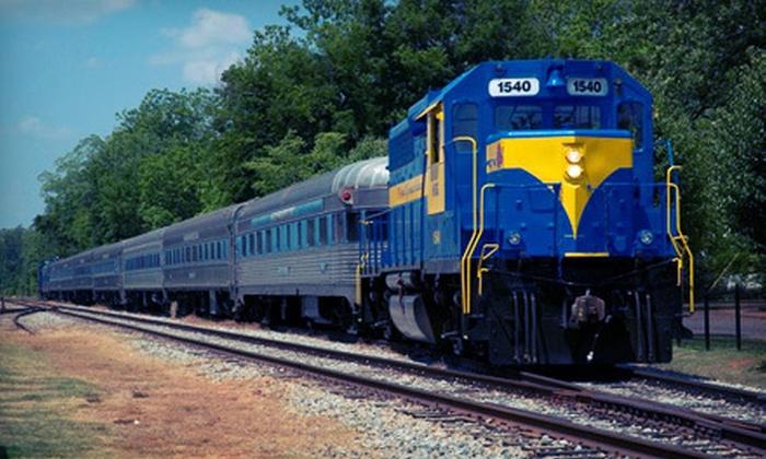 SAM Shortline Excursion Train - Cordele: $14 for Historical Train Tour from SAM Shortline Excursion Train (Up to $27.99 Value)