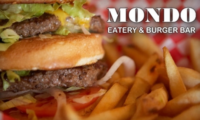 Mondo Eatery & Burger Bar - Fawn Creek: Half Off Gourmet Burgers and More at Mondo Eatery & Burger Bar in Richmond. Choose Between Two Dining Options.