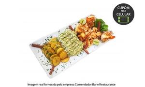 Comendador Bar e Restaurante: Comendador Bar e Restaurante – Pina: almoço ou jantar com caldinho, prato principal e sobremesa para 2 ou 4 pessoas