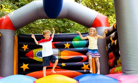 Inflatable Moon-Bounce Rental or Kids' Party Packages from Bounceria (Up to 72% Off)