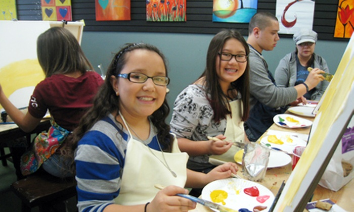 Social Paintbrush - Summerlin: Painting Class with Materials for One or Two or Party for 15 Kids or 20 Adults at Social Paintbrush (Up to 54% Off)