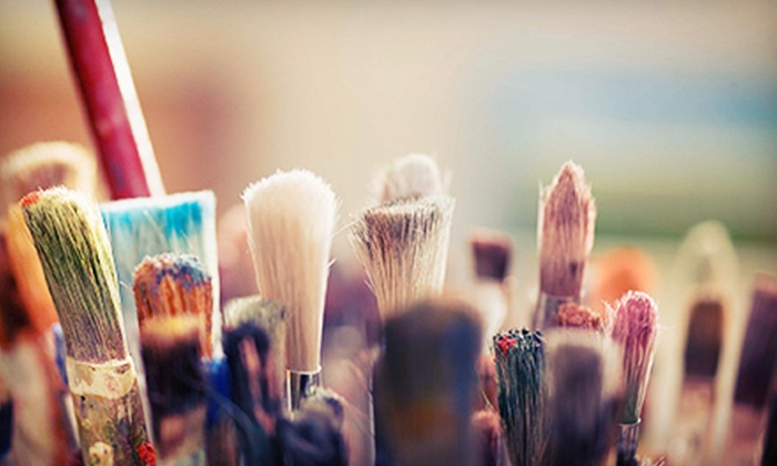 Occasions Divine - Near Northside: Intermediate Painting with a Master Class and Dinner for One, Two, or Four from Occasions Divine (Up to 57% Off)