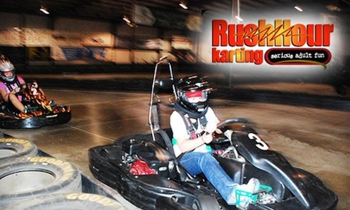 Rush Hour Karting - Garner: $15 for Two Eight-Minute Races at Rush Hour Karting in Garner ($40 Value)