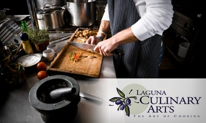 Laguna Culinary Arts - Multiple Locations: $45 Cooking Class at Laguna Culinary Arts ($85 Value)