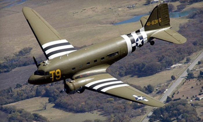 Southern Cross Douglas C-47 - Washington Heights: $60 for One-Year Membership with Scenic Flight in Historic Aircraft from Southern Cross Douglas C-47 ($120 Value)