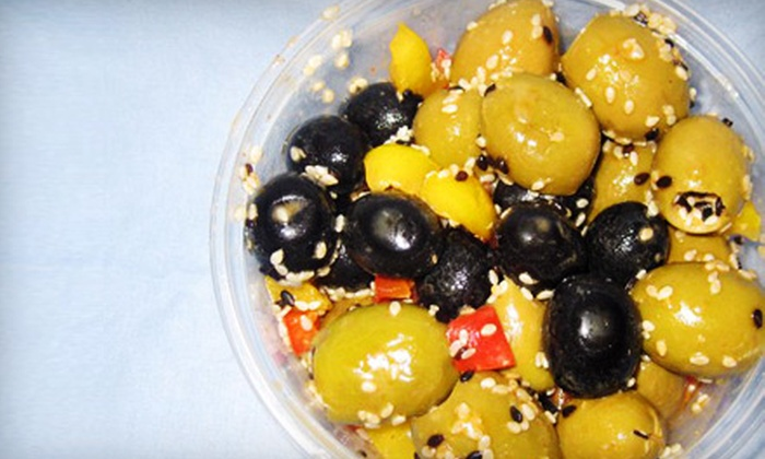 Olive Me - Multiple Locations: $8 for $16 Worth of Gourmet Olives at Olive Me