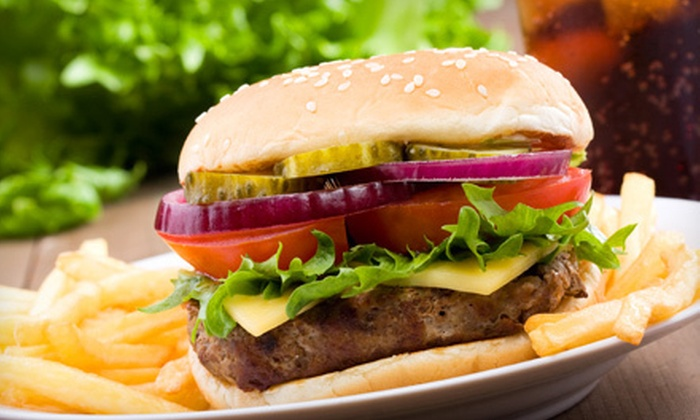 The Bogey Bar and Grill - Muirfield Village: $23 for a Golf-Tournament Party, Burgers, and Fries for Two at The Bogey Bar and Grill in Powell on May 30–June 2 (Up to $46 Value)