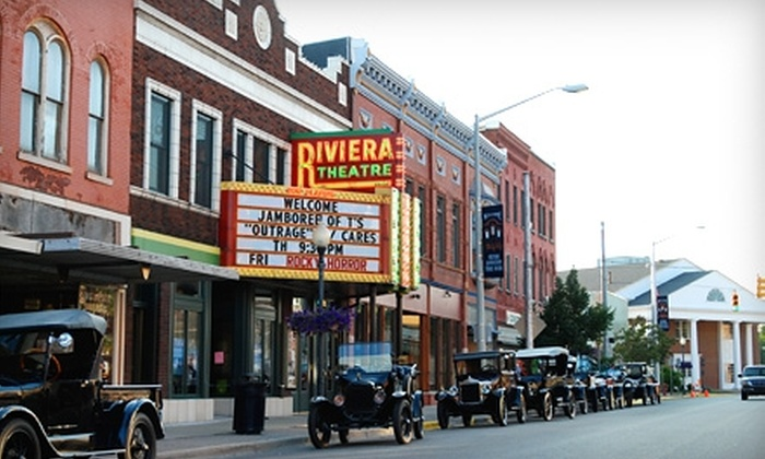 Riviera Theatre - Kalamazoo: $10 for Two Movie Tickets, Two Large Sodas, and a Large Popcorn at Riviera Theatre in Three Rivers (Up to $20 value)