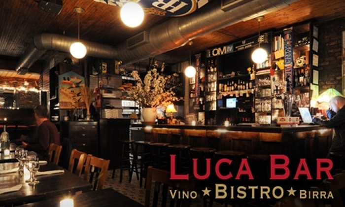 Luca Bar - East Village: $15 for $30 Worth of Upscale Italian Bistro Fare and Drinks at Luca Bar in the East Village