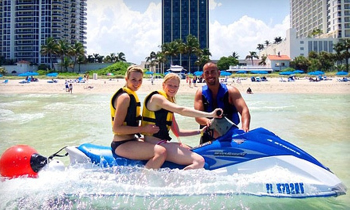 Blufin Beach Club - Blufin Beach Club: $89 for Beach Day for Two with Jet Ski, Lounge Chairs, and Umbrella from Blufin Beach Club in Miami Beach ($180 Value)