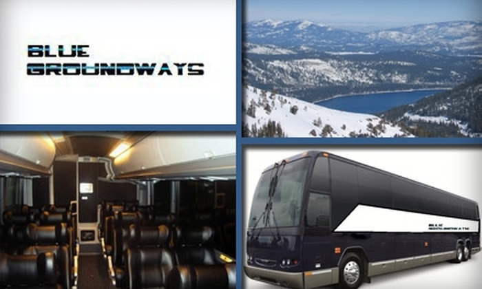 Blue Groundways - Multiple Locations: $49 for a Roundtrip Luxury Bus to Lake Tahoe or Reno from Blue Groundways ($104 Value)
