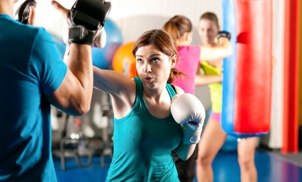 8 or 12 Boxing Fitness Classes with Hands-On Training at Boston Boxing & Fitness (52% Off)
