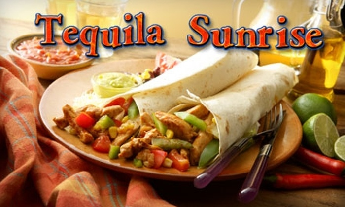 Tequila Sunrise - Downtown Toronto: $10 for $20 Worth of Mexican Cuisine at Tequila Sunrise