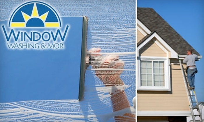 Window Washing & Mor - Sioux Falls: $45 for a Window and Gutter Cleaning from Window Washing & Mor ($180 Value)