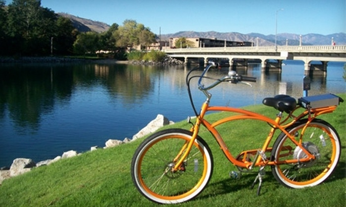 M.e.r.v.'s Chelan Electric Bikes - Chelan: $30 for a Four-Hour Electric-Bike Rental from M.e.r.v.'s Chelan Electric Bikes ($60 Value)
