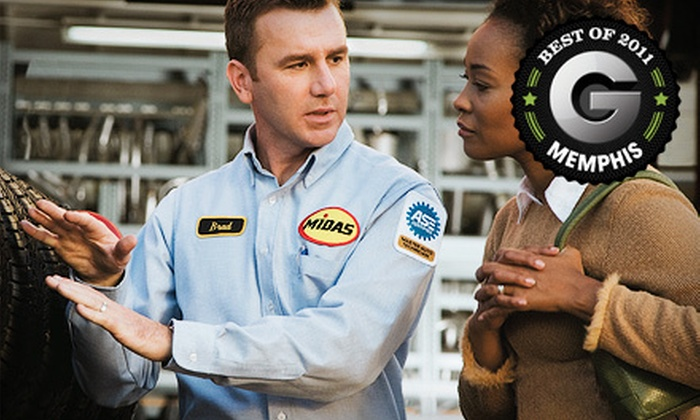 Midas - 1: $19 for an Auto-Upkeep Package with Standard Oil Change and Tire Rotation at Midas ($38.18 Value)