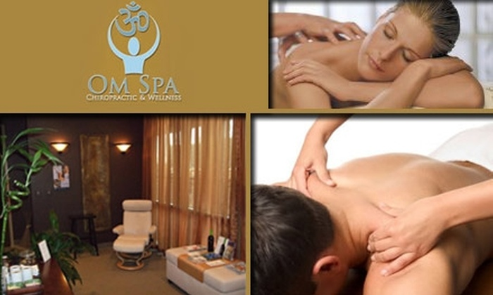 Om Spa Chiropractic and Wellness  - The South End: $65 for a Chiropractic Session and Massage at Om Spa Chiropractic and Wellness ($255 Value)