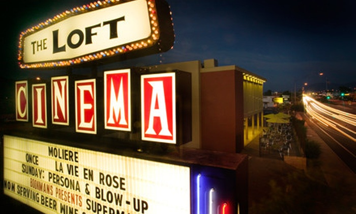 The Loft Cinema - Palo Verde: $14 for a Movie Package for Two at The Loft Cinema (Up to $34 Value)