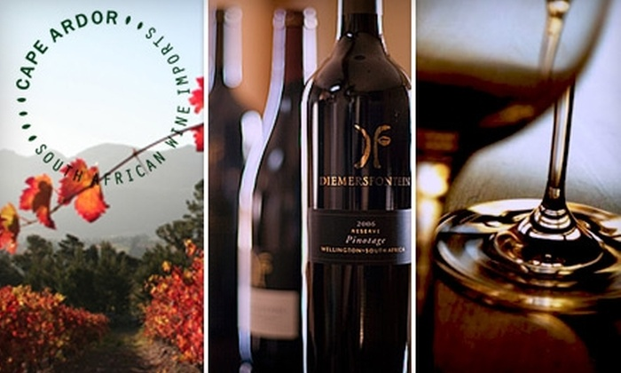 Cape Ardor LLC - Melrose: $20 for a South African Wine Tasting on May 3, at 7 P.M.