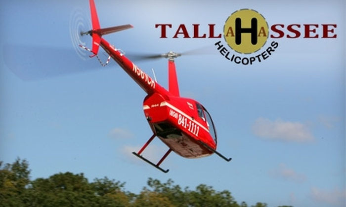 Tallahassee Helicopters - Lake Bradford/Cascade Lake: $99 for 50-Mile Aerial Sightseeing Tour ($219 Value) or $195 for 70-Min Extended Introductory Flight Lesson ($390 Value) at Tallahassee Helicopters