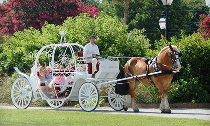 Olde Towne Carriage Company - Downtown: $60 for a Themed Cinderella Carriage Ride for Up to Six from Olde Towne Carriage Company ($125 Value)
