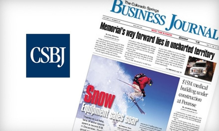 "Colorado Springs Business Journal: $30 for a One-Year Subscription to the ""Colorado Springs Business Journal"""