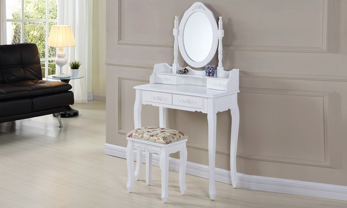 Groupon Goods Global Gmbh Antique Style Dressing Table Sets With Free Delivery