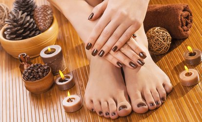 Choice of Manicure and Pedicure Plus Optional Foot Therapy and Callus Treatment at Dreamworks Spa (Up to 60% Off)