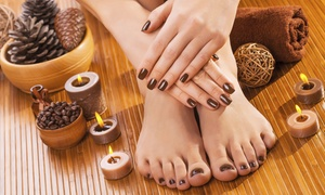M&D Saloon: 3 o 5 manicure e pedicure con smalto semipermanente (sconto fino a 87%)