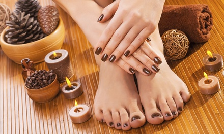 Holiday Deluxe or Gel Polish Manicure, Holiday Premium Deluxe Pedicure, or Both at Haven Salon & Spa (50% Off)