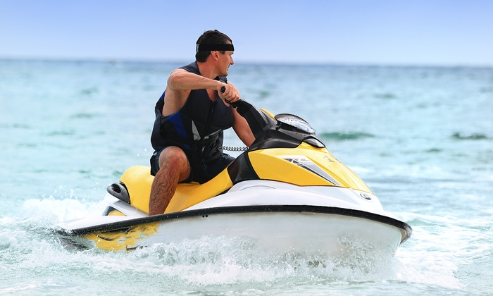 On the Beach Watersports - On The Beach Water Sports & Jet Ski Rental: $69 for a Cabana Rental and Waverunner Rental with Gas at On the Beach Watersports ($130 Value)