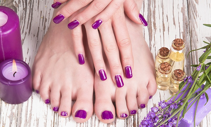 Red Moon Salon - Beverly Hills: One Manicure and Pedicure or One Gel Manicure at Red Moon Salon (Up to 58% Off)