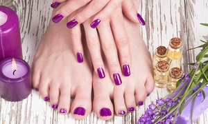 Red Moon Salon: One Manicure and Pedicure or One Gel Manicure at Red Moon Salon (Up to 58% Off)