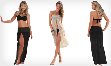 Beach dress 2in1 in pizzo da usare come gonna o vestitino. Vari colori disponibili