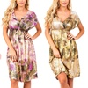V-Neck Ink Splatter Print Dress