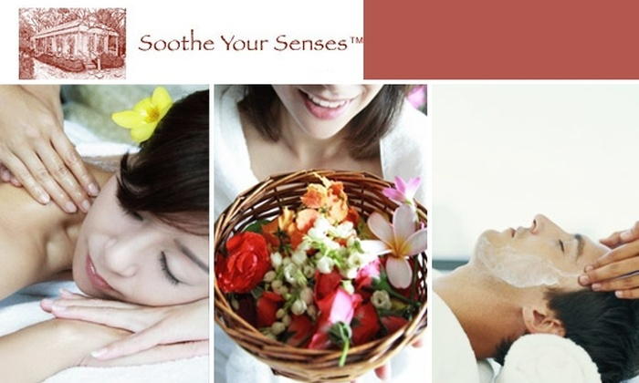 Soothe Your Senses - Multiple Locations: Choice of Three Services at Soothe Your Senses Day Spa—Only $33 Per Service