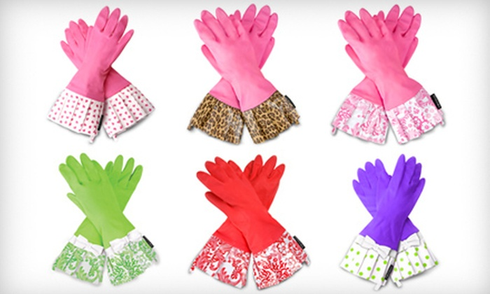 Gloveables Retro Kitchen Gloves: $11 for a Pair of Gloveables Retro Dish Gloves. Shipping Included (Up to $19 Total Value). Six Designs Available.