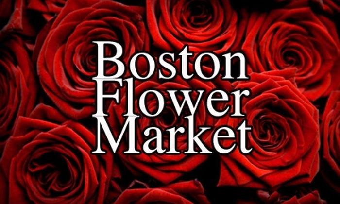 Boston Flower Market - South End: $10 for One Dozen Roses at Boston Flower Market ($30 Value)