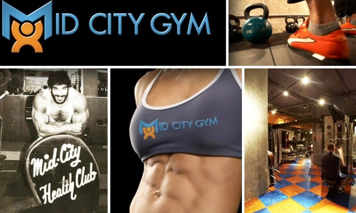 Mid City Gym and Tanning - Theater District - Times Square: One-Month Membership to Either Mid City Gym Location