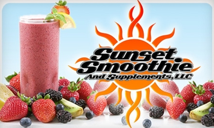 Sunset Smoothie - Highlands/Perkins: $5 for $10 Worth of Smoothies & Extras at Sunset Smoothie