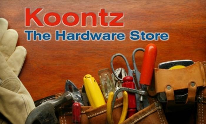 Koontz Hardware - West Hollywood:  $15 for $30 Worth of Tools and More at Koontz Hardware in West Hollywood