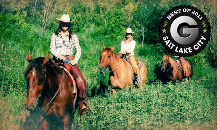 Rocky Mountain Outfitters - Heber City West: $29 for a One-Hour Horseback Ride at Rocky Mountain Outfitters in Midway ($59 Value)