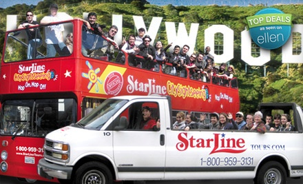 1 Adult or Child Ticket to 24-Hour All-Route Hop-On Hop-Off Tour (up to a $35 value) - Starline Tours in Los Angeles
