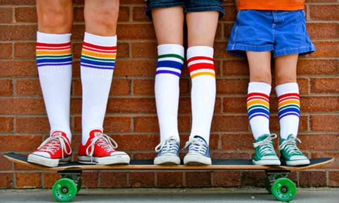 Pride Socks: $10 for $20 Worth of Rainbow-Striped Tube Socks from Pride Socks